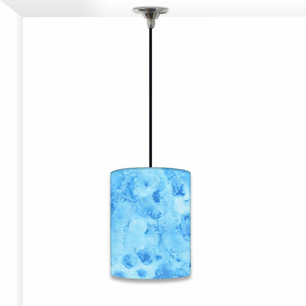 Ceiling Hanging Pendant Lamp Shade - Arctic Space Blue Watercolor