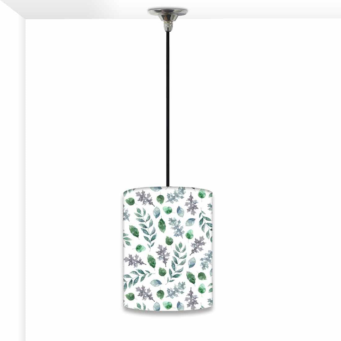 Ceiling Hanging Pendant Lamp Shade - Green Leaf