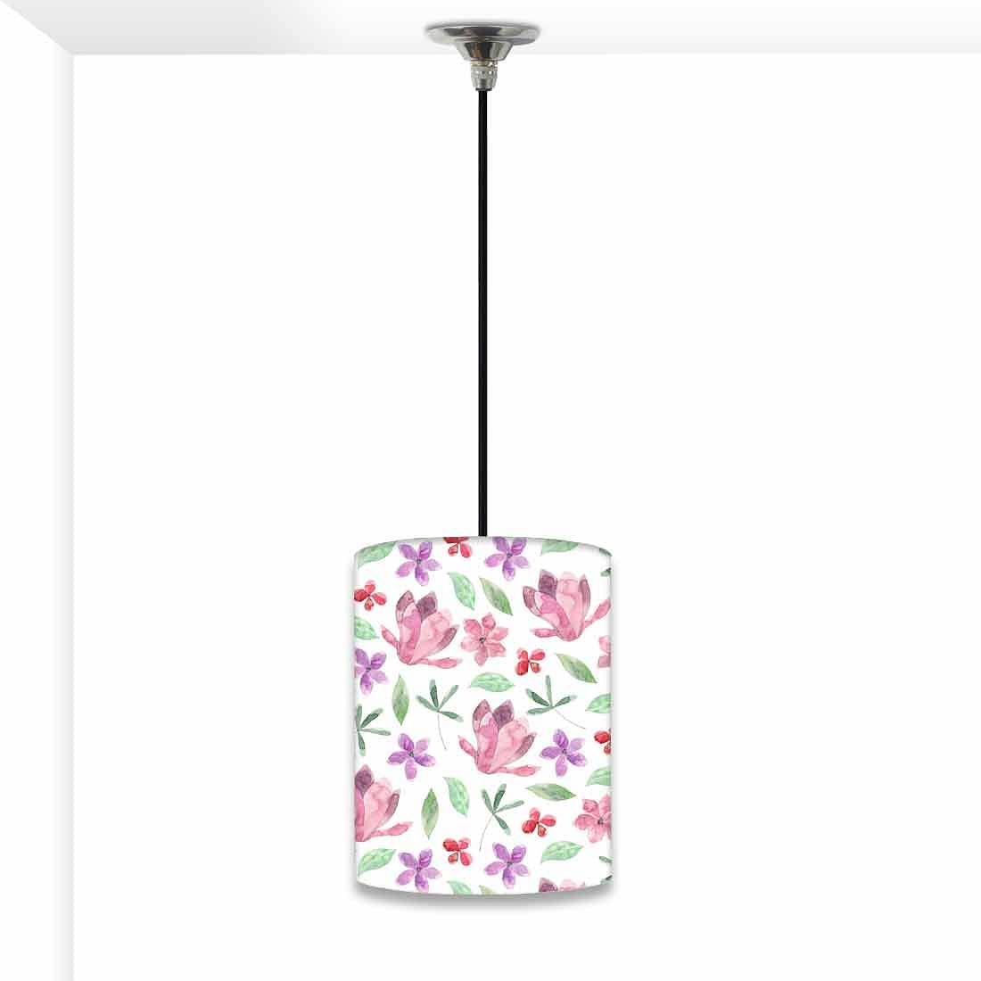 Ceiling Hanging Pendant Lamp Shade - Pink Flower