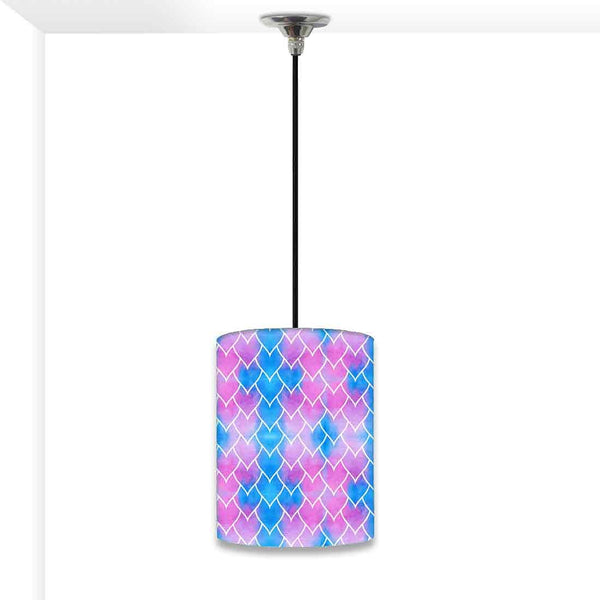 Ceiling Hanging Pendant Lamp Shade - Purple Blue Mermaid Watercolor