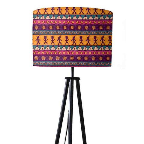 Tripod Floor Lamp Standing Light for Living Rooms -Aztec Purple