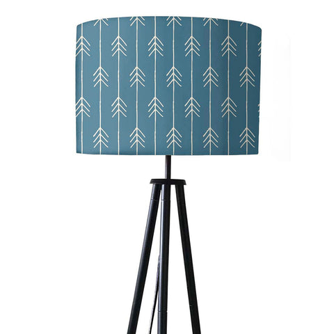 Tripod Floor Lamp Standing Light for Living Rooms -Soft Blue Arrows