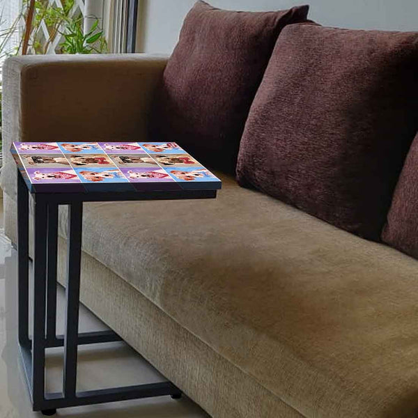 Designer Sofa Side Table  -  Cute Dogs