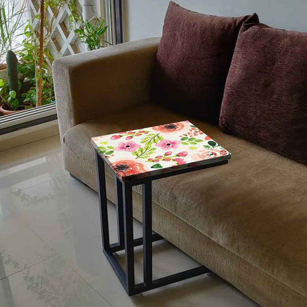 New Floral Metal C Table Online in India