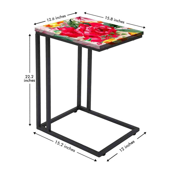 Designer Floral Metal C Table Online in India