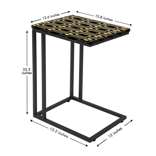 C Shaped End Table For Sofa Online in India