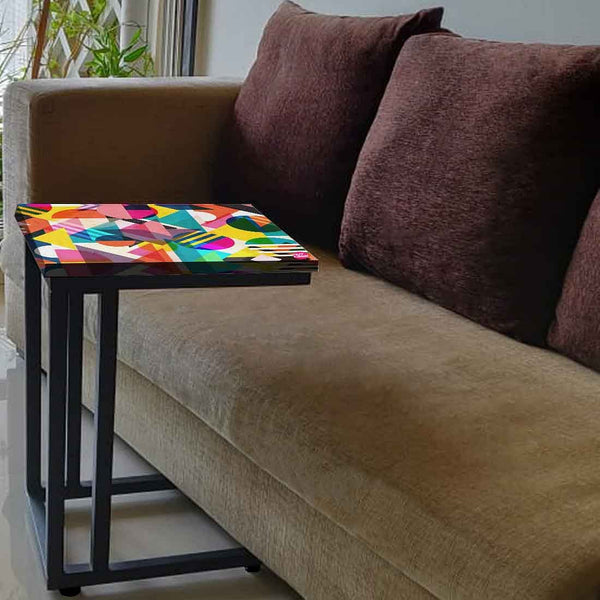 Small Metal C Table For Sofa - Designer Pattern