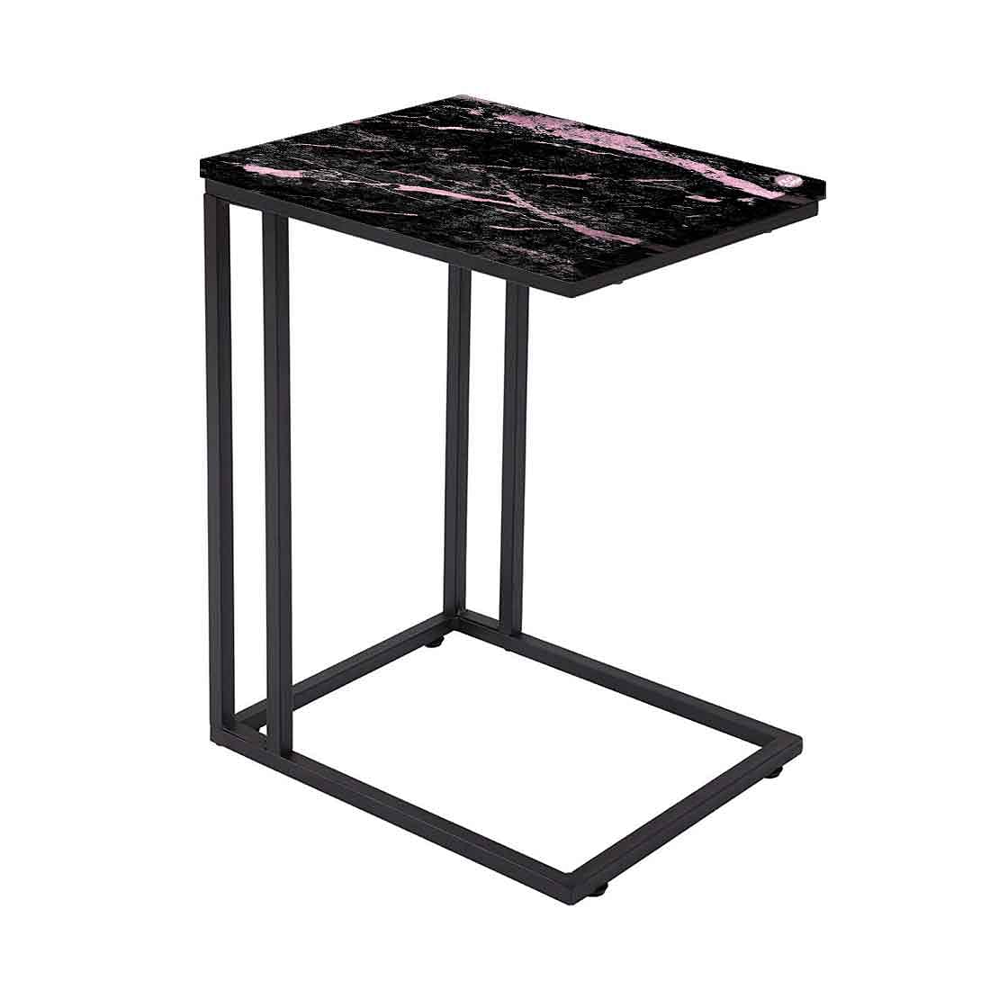 Black Marble C Table For Sofa