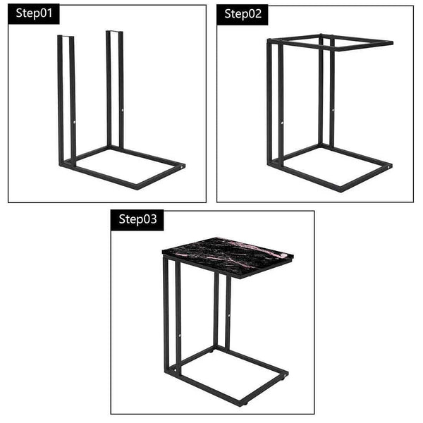 Buy Black Marble C Table For Sofa Online