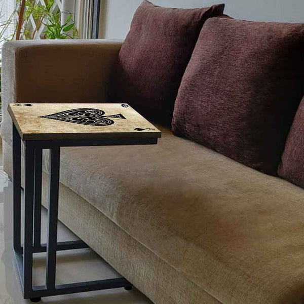 Black C Shaped Table For Sofa  - Ace
