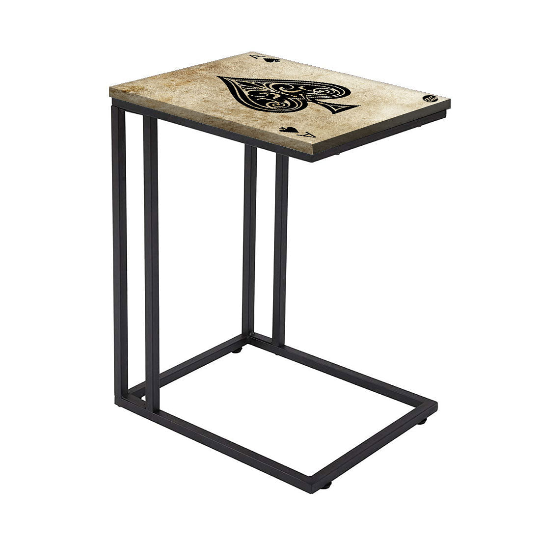 Black C Shaped Table For Sofa