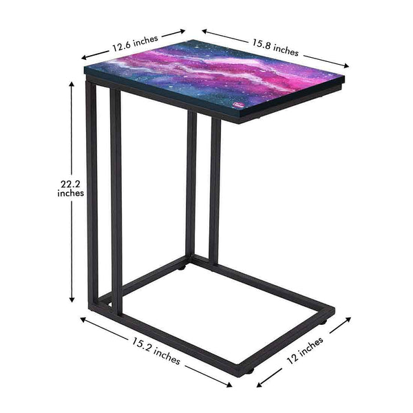 Beautiful Black C Shaped Table Online in India