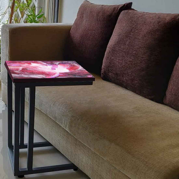 Beautiful Sofa Side C Table - Space Pink Watercolor