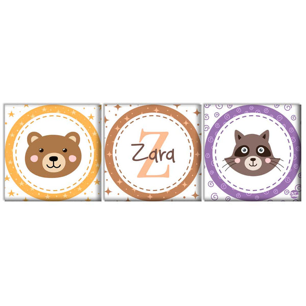 Personalized Wall Art Panel - Cute Animal Face