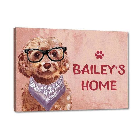Nutcase Personalized Dog Name Plates For Home