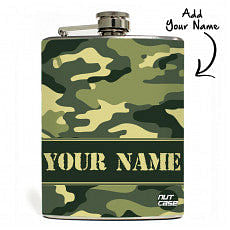Camouflage Custom-Made Hip Flask