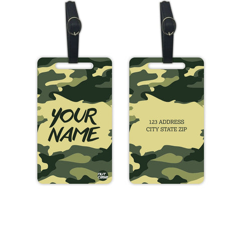 Personalised Bag Luggage Tags Add Your Name - Set of 2 - Nutcase