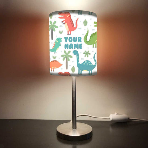 Personalized Kids Bedside Night Lamp-Cute Dinosaur
