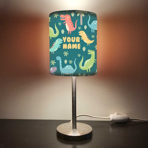 Personalized Kids Bedside Night Lamp-Dinosaur