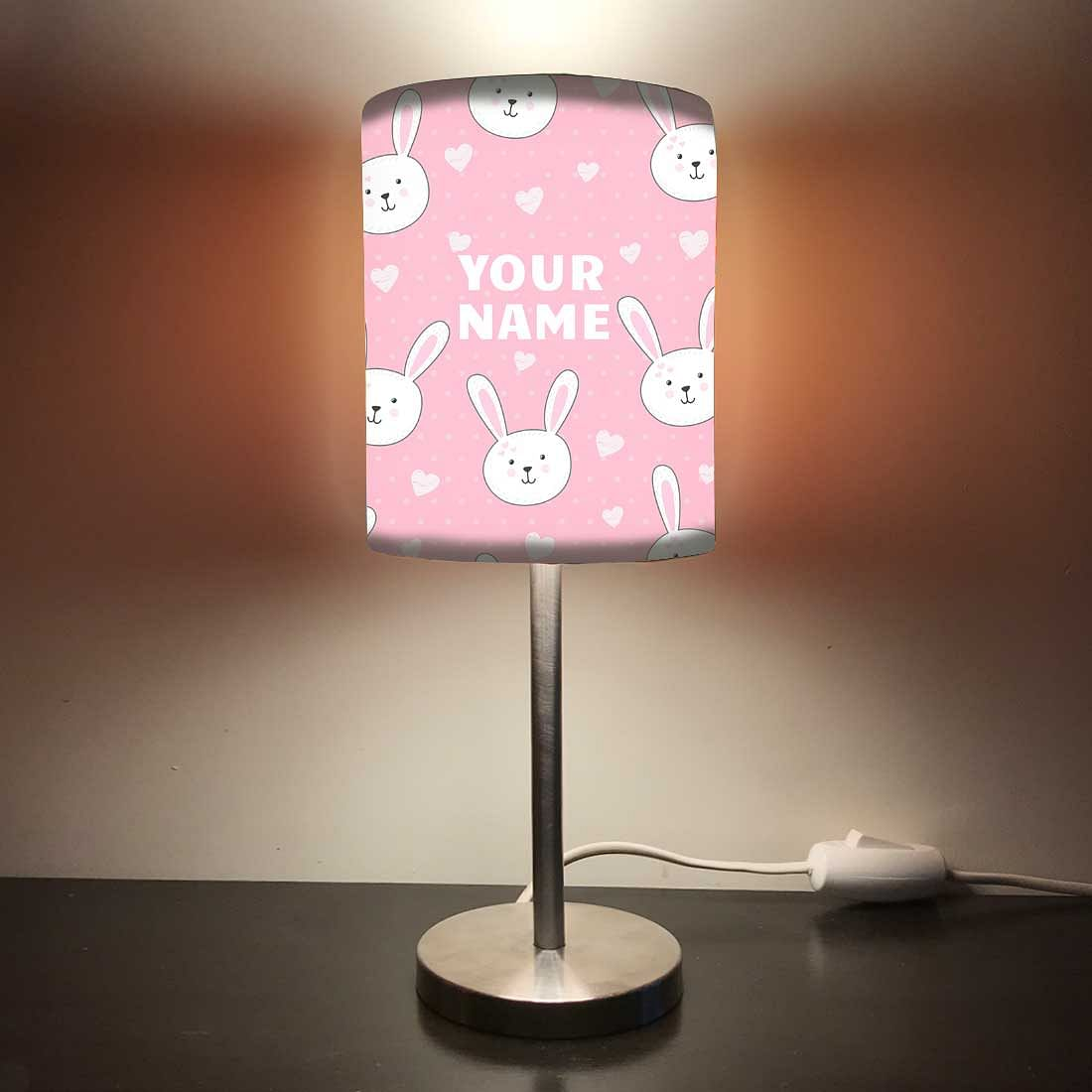 Personalized Kids Bedside Night Lamp-White Rabbit