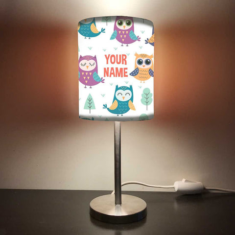 Personalized Kids Bedside Night Lamp-Beautiful Owl