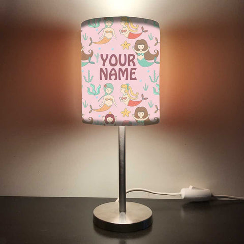 Personalized Kids Bedside Night Lamp-Mermaid