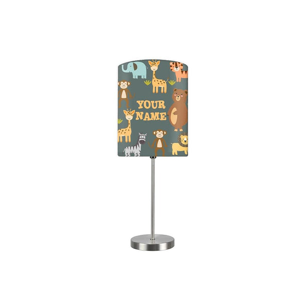 Personalized Kids Bedside Night Lamp-Wild Animals