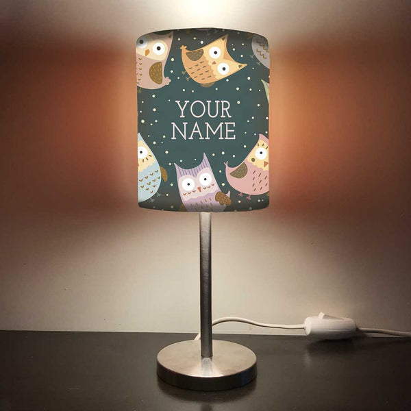 Personalized Kids Bedside Night Lamp-Owl