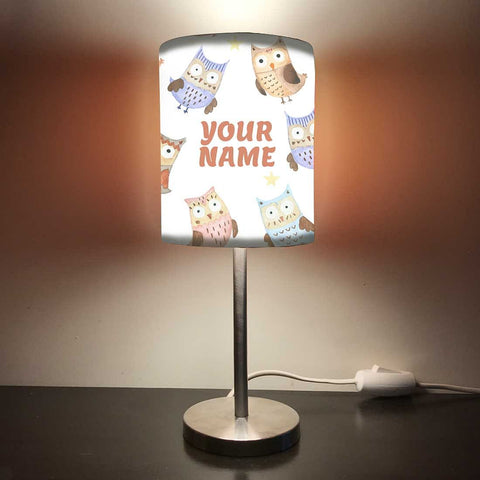 Personalized Kids Bedside Night Lamp-Star And Owl