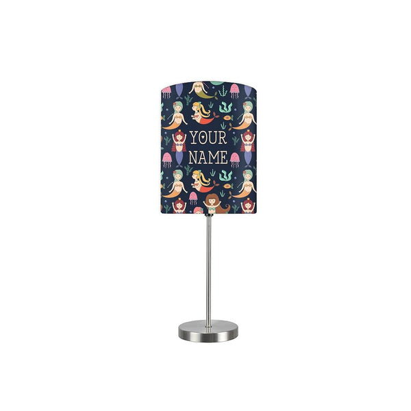 Personalized Kids Bedside Night Lamp-Mermaid And Jellyfish