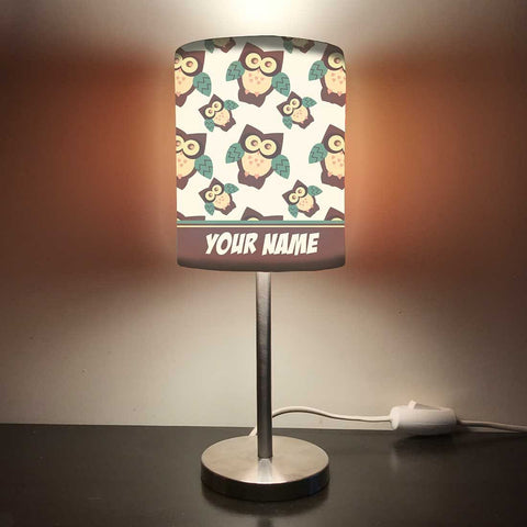 Personalized Kids Bedside Night Lamp-Owl Design