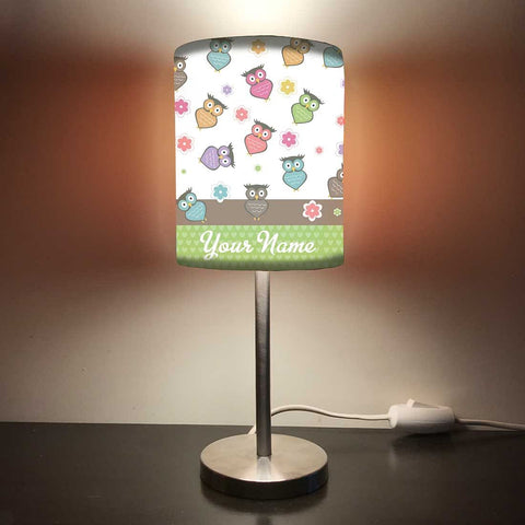 Personalized Kids Bedside Night Lamp-Owl Everywhere