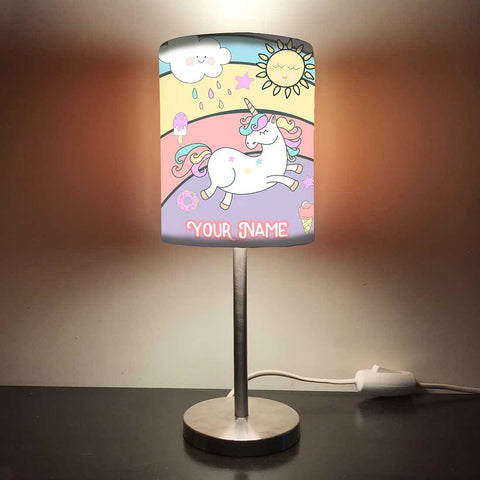 Personalized Kids Bedside Night Lamp-Unicorn