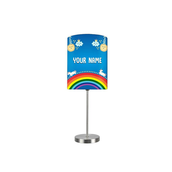 Personalized Kids Bedside Night Lamp-Clouds And Rainbow