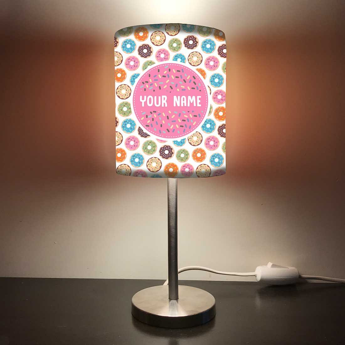 Personalized Kids Bedside Night Lamp-Doughnut