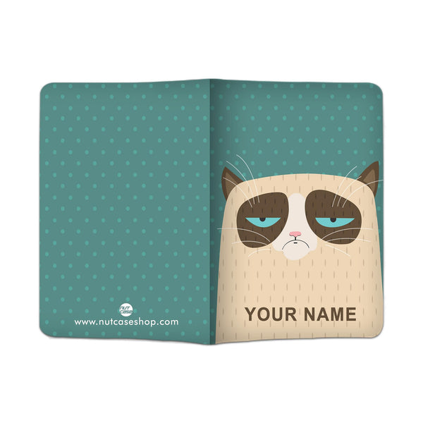 Personalized Passport Cover -  Grumping Cat - Nutcase