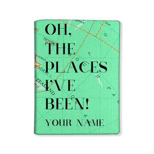 Personalized Passport Cover -  Oh The Places I've Been Green - Nutcase
