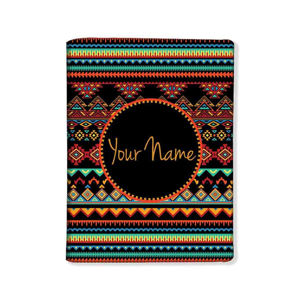 Personalized Passport Cover -  Aztec Pattern - Nutcase