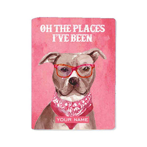 Customized Passport Holder - Hipster Lab Pink - Nutcase