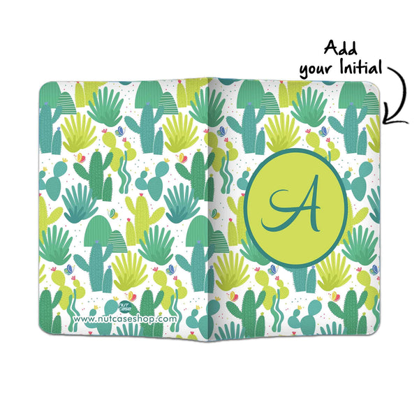 Customized Passport Holder - Cactus Art - Nutcase