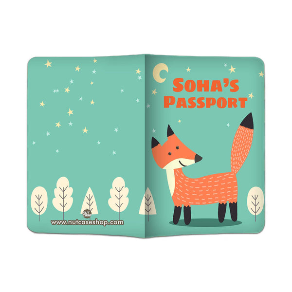 Customized Travel Document Holder  -Fox and Tree - Nutcase