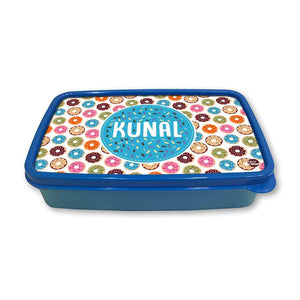 Personalized Snack Box for Kids Plastic Lunch Box for Boys -Sweet Doughnut