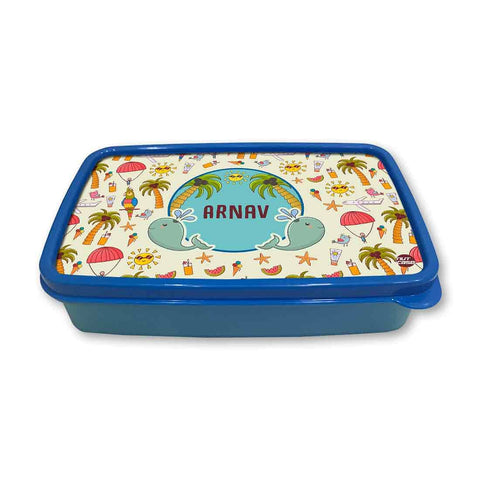 Personalized Snack Box for Kids Plastic Lunch Box for Boys -Summer Time