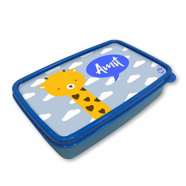 Personalized Snack Box for Kids Plastic Lunch Box for Boys -Baby Giraffe