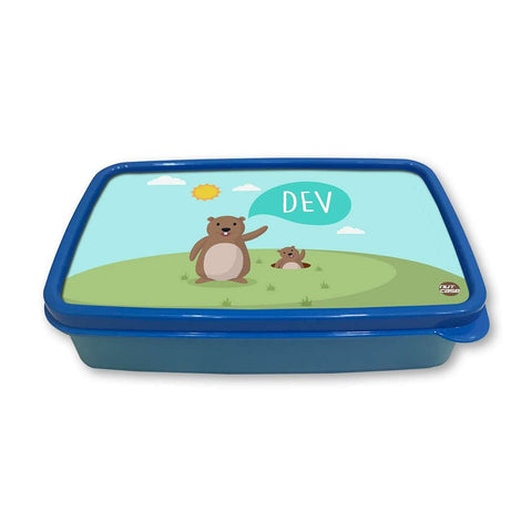 Personalized Snack Box for Kids Plastic Lunch Box for Boys -Small Bear