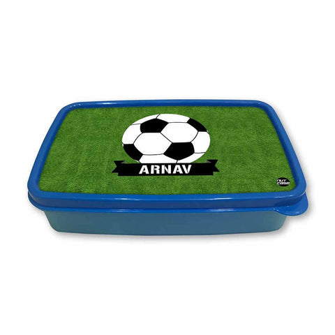 Personalized Snack Box for Kids Plastic Lunch Box for Boys -Football