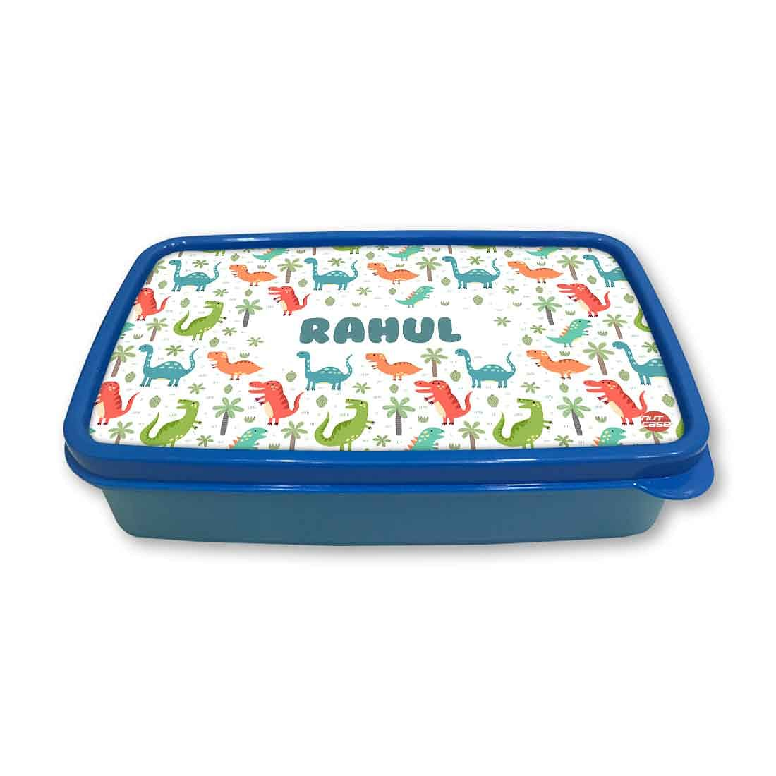 Personalized Snack Box for Kids Plastic Lunch Box for Boys -Cute Dinosaur