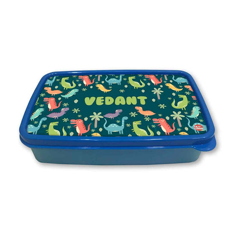 Personalized Snack Box for Kids Plastic Lunch Box for Boys -Dinosaur Forest