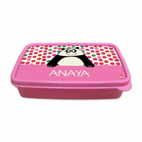 Personalized Snack Box for Kids Plastic Lunch Box for Girls -Cute Panda