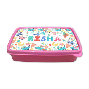 Personalized Snack Box for Kids Plastic Lunch Box for Girls -Kids Toy